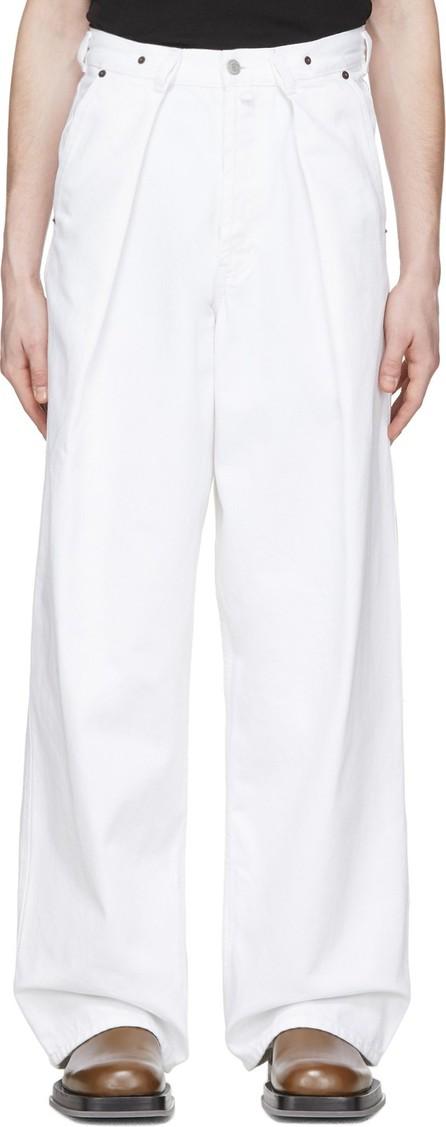 Dries Van Noten White Denim Wide-Leg Jeans