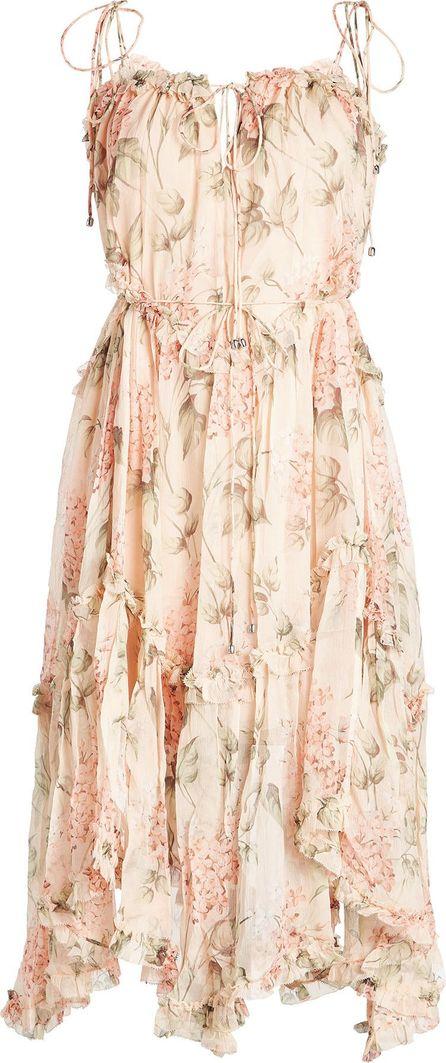 Zimmermann Printed Silk Chiffon Dress