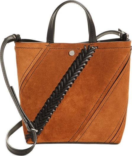 Proenza Schouler Small Hex Whipstitch Suede Bucket Bag