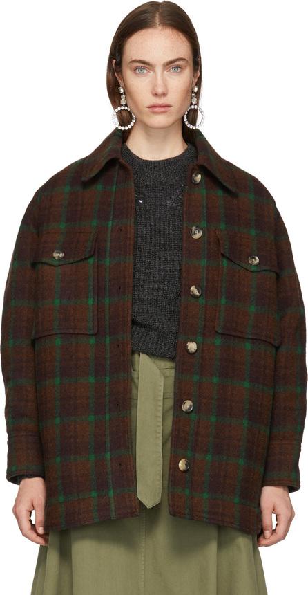 Isabel Marant Brown Check Wool Harvey Jacket