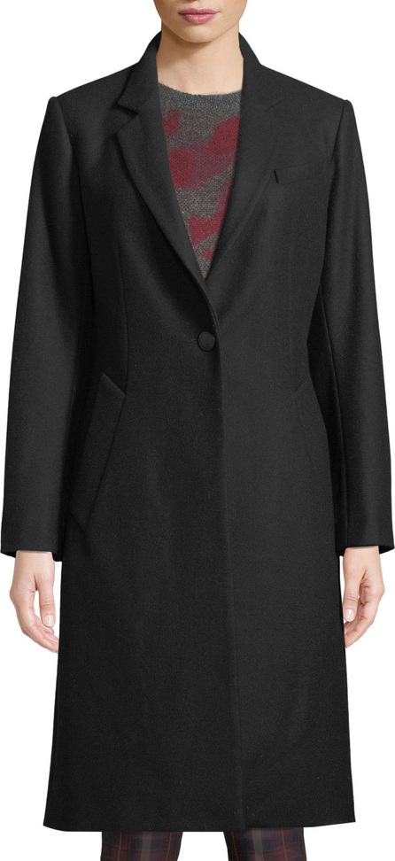 Rag & Bone Daine One-Button Classic Fitted Top Coat