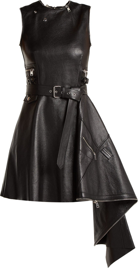 Alexander McQueen Asymmetric lambskin leather dress