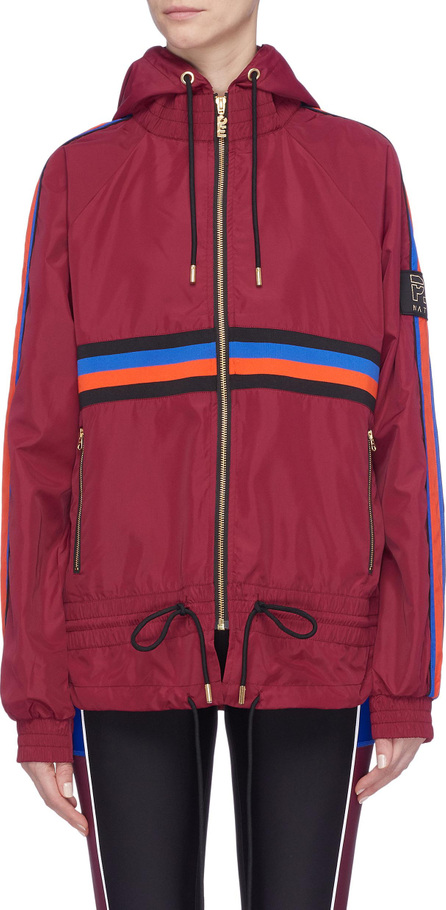 P.E Nation 'The Tactical' track stripe hooded jacket