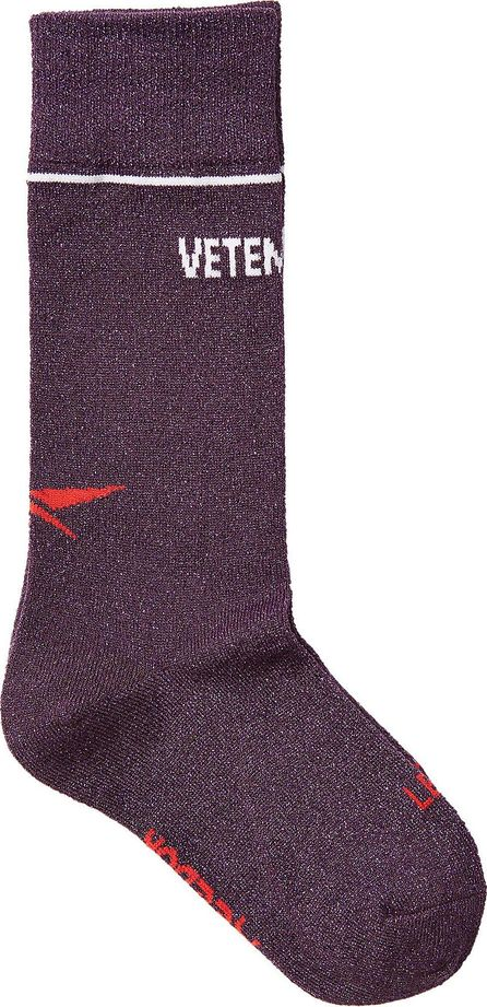Vetements X Reebok Printed Socks with Metallic Thread
