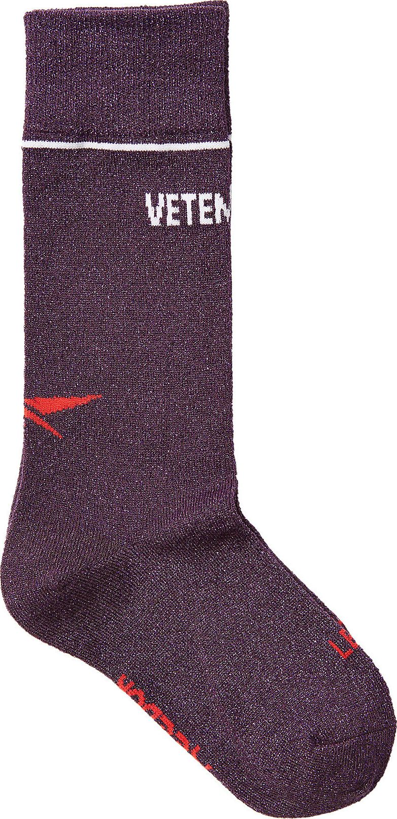 Vetements - X Reebok Printed Socks with Metallic Thread