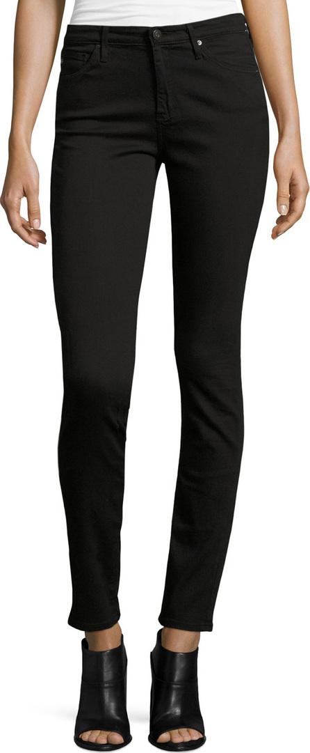 AG Jeans The Prima Mid-Rise Cigarette Jeans, Super Black