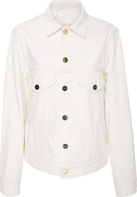 GOLDSIGN Patch Pocket Pearl White Denim Jacket