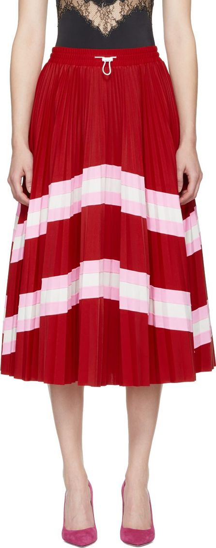 Valentino Red Pleated Skirt