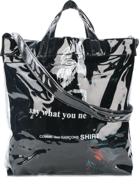 Comme Des Garcons Laminated shopper bag