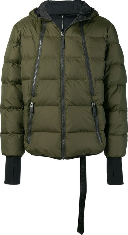 Black Barrett Quilted hooded jacket
