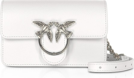 Pinko White Love Baby Simply Shoulder/Belt Bag