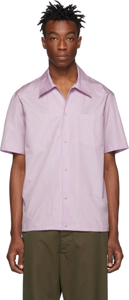 Helmut Lang Purple Tie Short Sleeve Shirt