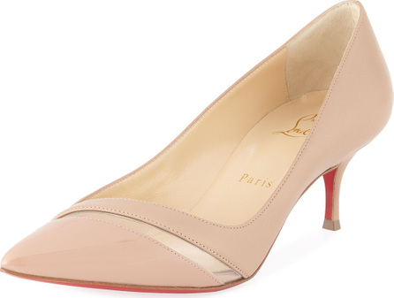 Christian Louboutin 17th Floor Red Sole Pumps, Nude