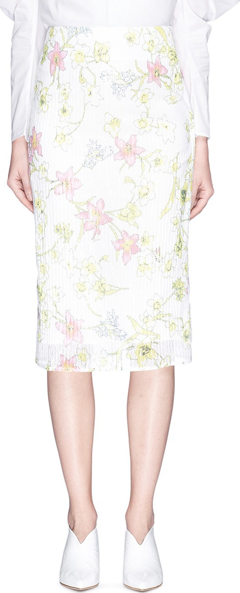 Georgia Alice - 'Pageant' floral print sequin mesh skirt
