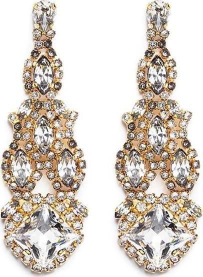 Erickson Beamon Swarovski crystal chandelier earrings