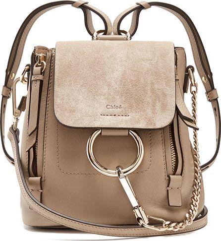 Chloe Faye mini suede and leather backpack