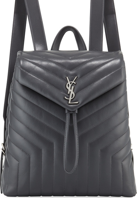 Saint Laurent Loulou Monogram YSL Medium Quilted Leather Backpack