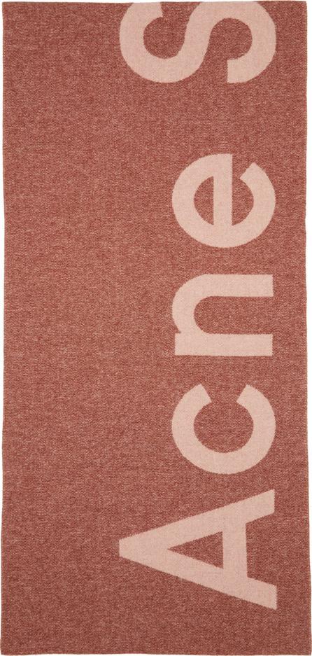 Acne Studios Pink Toronty Logo Scarf