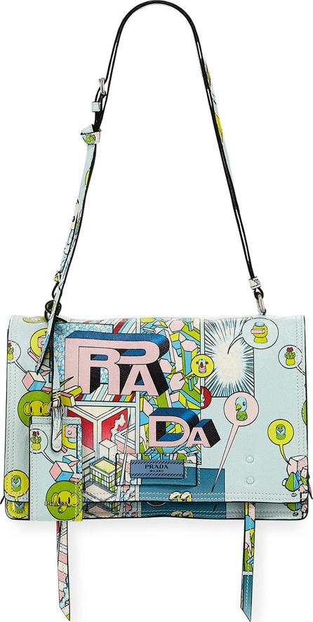 Prada Etiquette Medium Comic Print Shoulder Bag rE7kFfkxBA