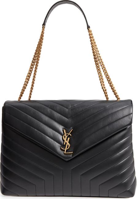 Saint Laurent Large Lou Matelassé Calfskin Leather Shoulder Bag