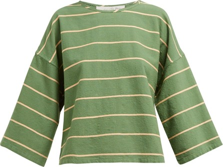 ace&jig Flared-sleeve boat-neck cotton top