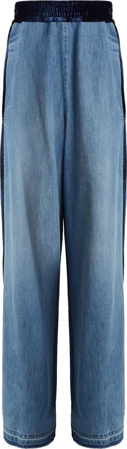 Golden Goose Deluxe Brand Sophie contrast-panel high-rise cotton trousers