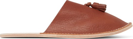 Hender Scheme Tasselled Textured-Leather Backless Slippers