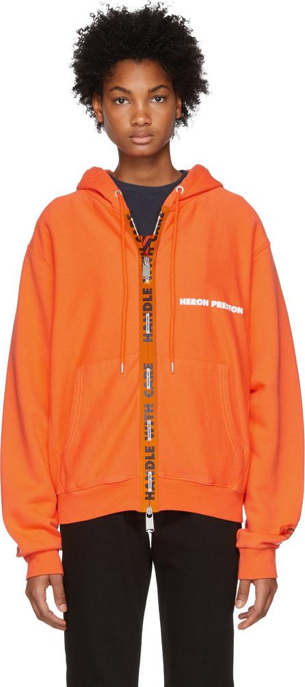 Heron Preston Orange Handle Zip Hoodie