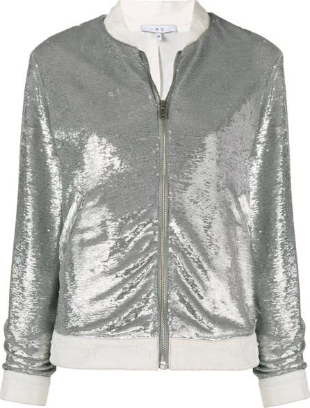 IRO Metallic bomber jacket