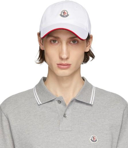 Moncler White Baretto Baseball Cap