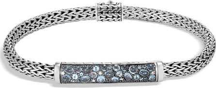 John Hardy Classic Chain Silver Stone Station Bracelet - 6.5mm