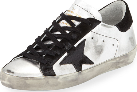 Golden Goose Deluxe Brand Star-Embellished Leather Sneakers