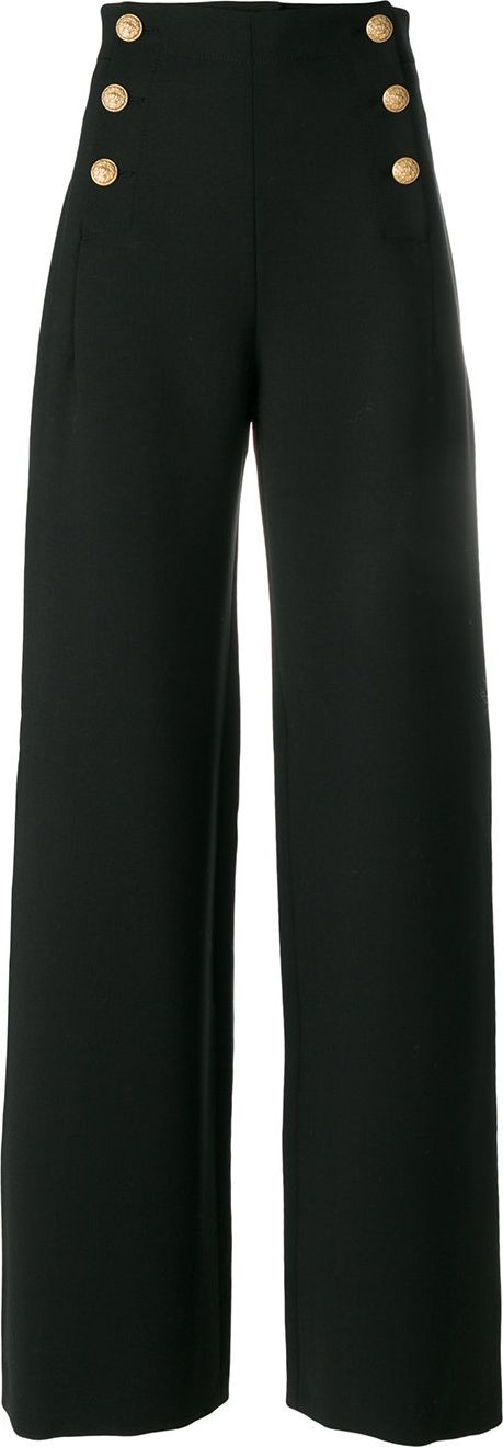 Alberta Ferretti - high rise wide pants