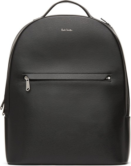 Paul Smith Black Embossed Leather Backpack