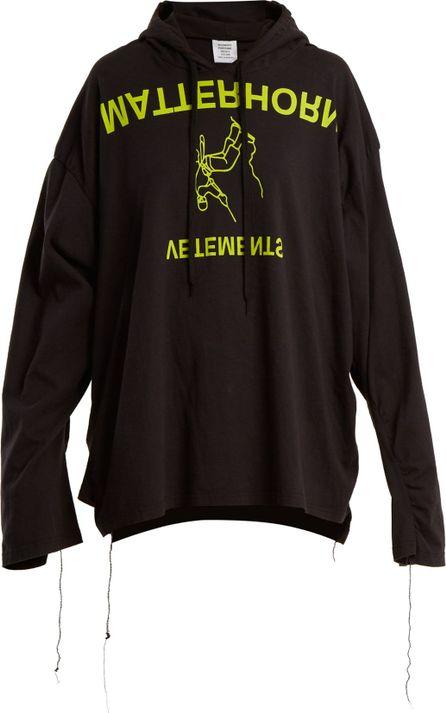 Vetements Ruched-sleeve hooded sweatshirt