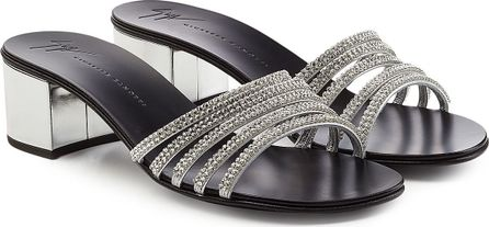 Giuseppe Zanotti Roll Embellished Leather Sandals