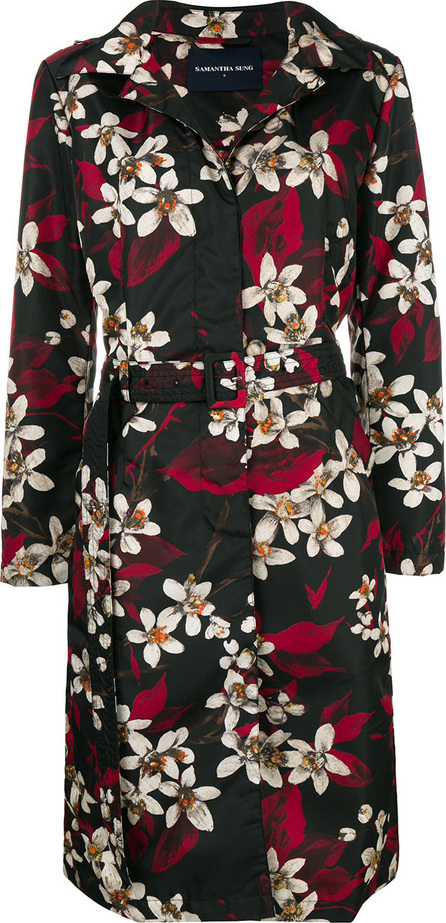 Samantha Sung Floral print trench coat