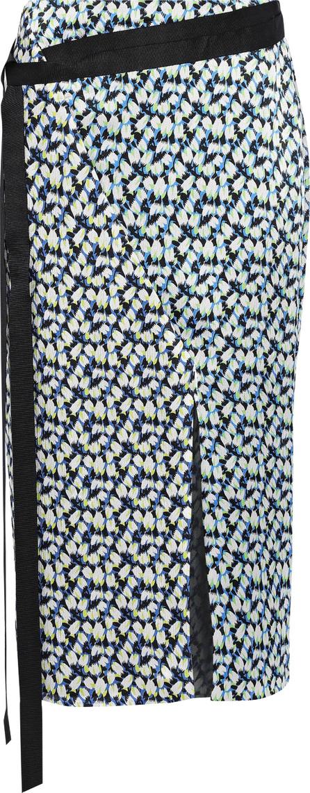 Jason Wu Wrap-effect printed silk-georgette skirt