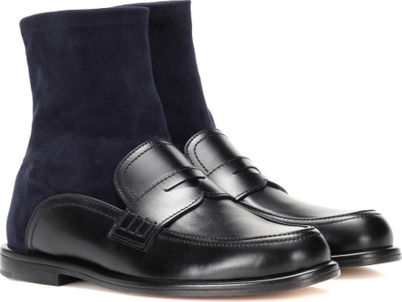 LOEWE Leather and suede sock boots