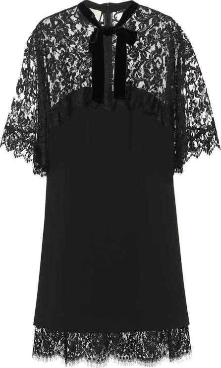 Gucci Lace-paneled minidress