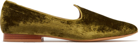 Le Monde Beryl Venetian velvet slipper shoes