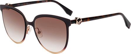Fendi Square Metal & Acetate Sunglasses