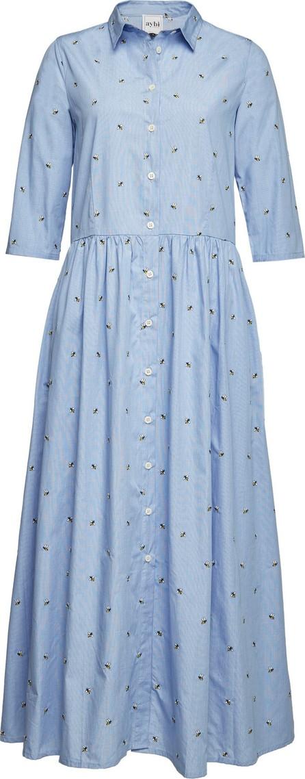 Aybi Danai Embroidered Cotton Maxi Dress