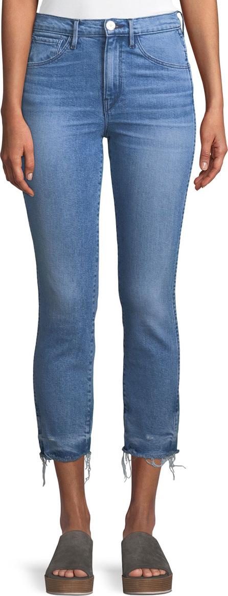 3X1 W3 Authentic Straight-Leg Crop Jeans