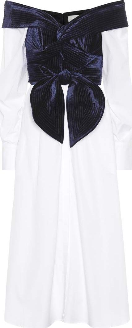 Johanna Ortiz - Carmen velvet-trimmed shirt dress