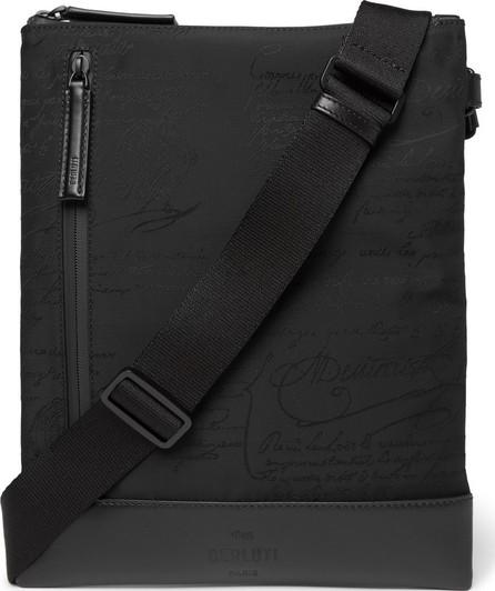 Berluti Salou Leather-Trimmed Printed Nylon Messenger Bag