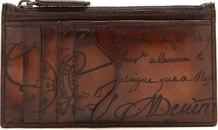 Berluti Koa leather cardholder