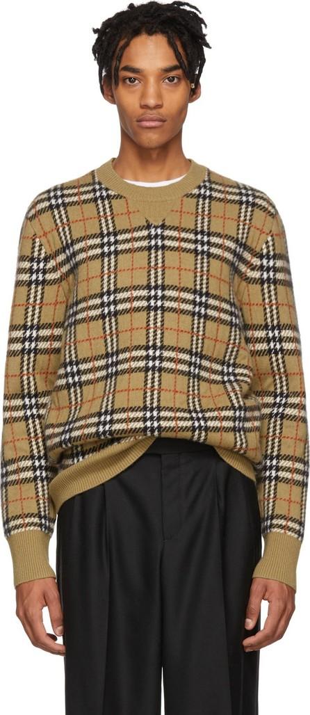 Burberry London England Beige Cashmere Banbury Sweater