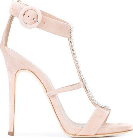 Giuseppe Zanotti Rhinestone embellished T-bar sandals