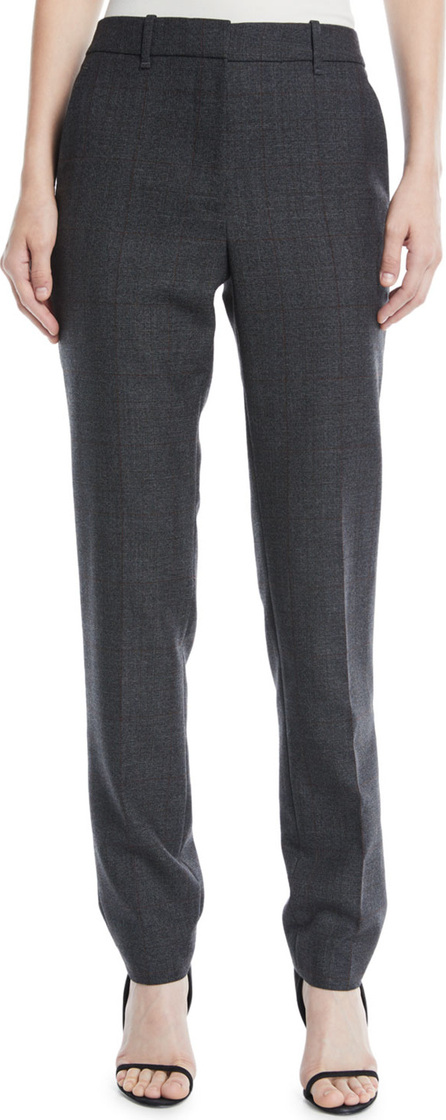 Calvin Klein 205W39NYC Slim Straight-Leg Worsted Wool Check Pants